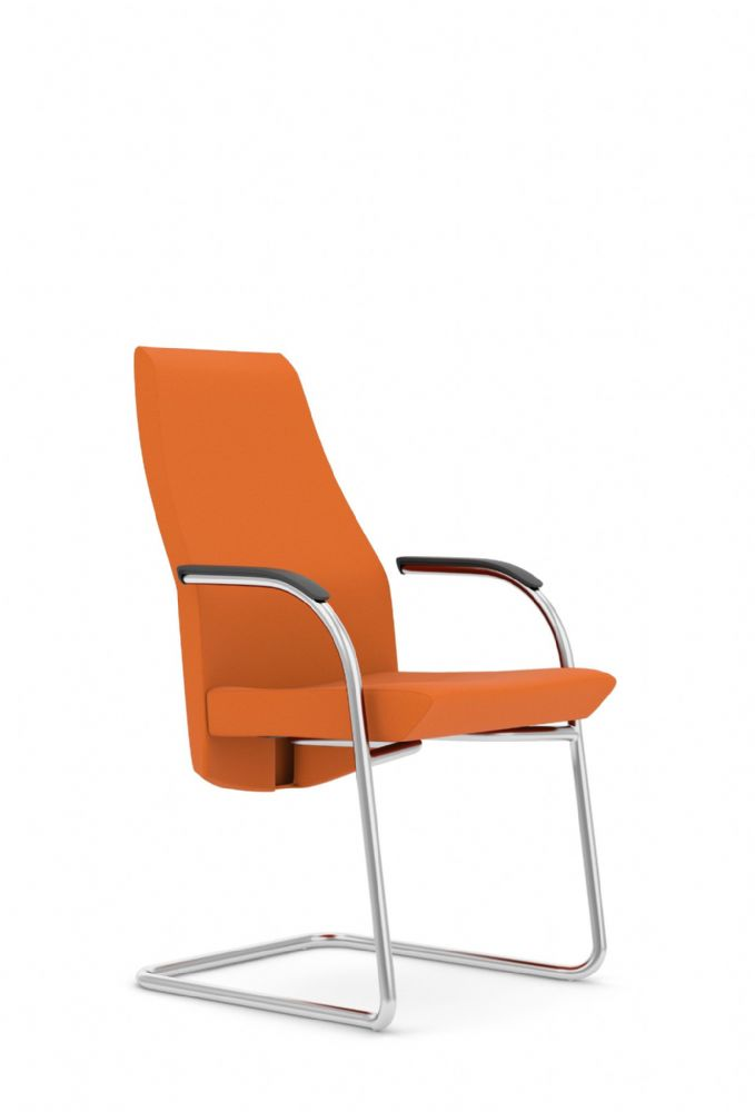 Pledge Zante Upholstered Meeting Chair With Medium Back And Cantilever Frame